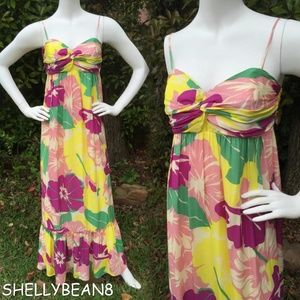 ANTHROPOLOGIE SHOSHANNA Silk Floral Maxi Dress 4